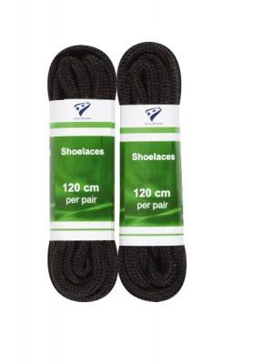 shoelaces round 120 cm zwart 2-pack