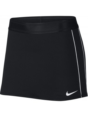 Nike court dry stripe skirt zwart