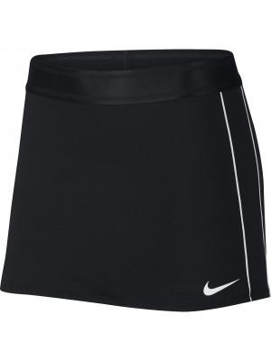 Nike court dry stripe skirt zwart