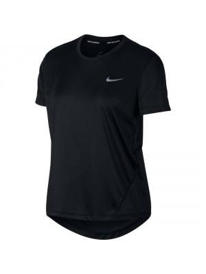 Nike miler running shirt zwart