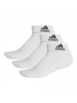 Adidas cushioned ankle socks 3-pack wit