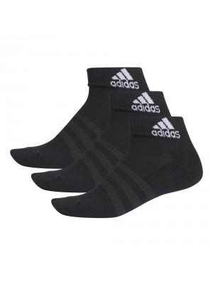 Adidas cushioned ankle socks 3-pack zwart