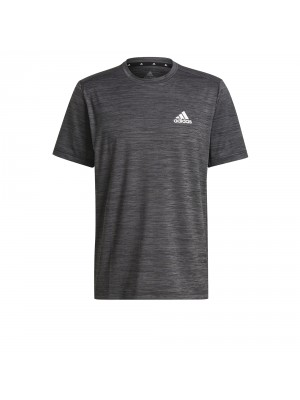 Adidas heathered training tee zwart