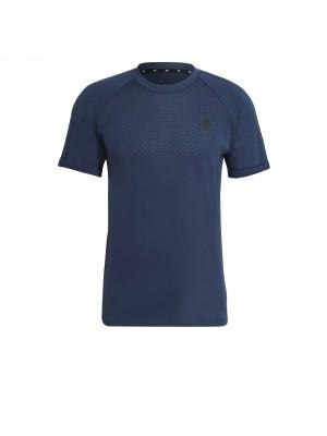 Adidas seamless training tee blauw