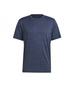 Adidas heathered training tee blauw