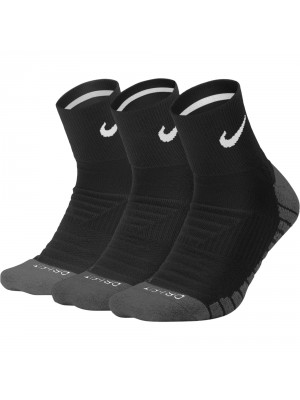 Nike everyday max cushioned 3x quarter socks zwart