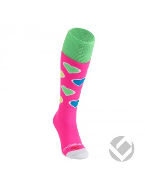 Brabo hockeysocks hearts pink