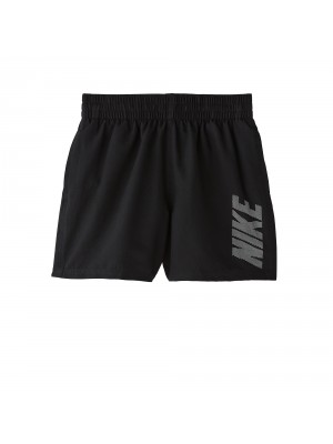 "Nike YA logo solid 4""volley short zwart"