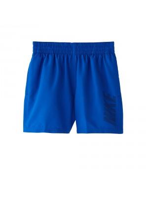"""Nike YA logo solid 4""""volley short blauw"""