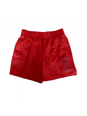 "Nike YA logo solid 4""volley short rood"