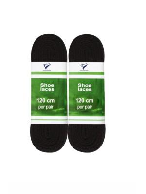 shoelaces flat 120 cm zwart 2-pack