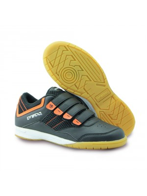 Brabo tribute indoor velcro schoen zwart/orange