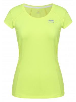 Li-Ning Lara tennisshirt geel