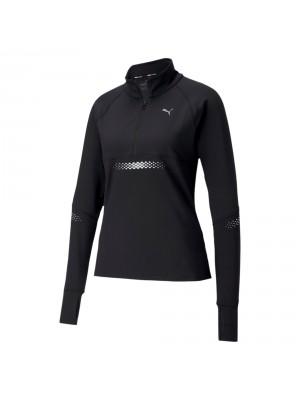 Puma runner ID 1/4 zip runningsshirt zwart