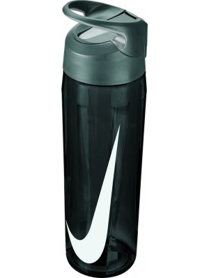 Nike training hypercharge straw bottle 24oz zwart
