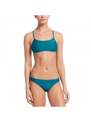 Nike solid racerback top en bikini bottom set