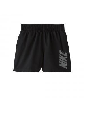 "Nike YA logo solid 4""volley short zwart"
