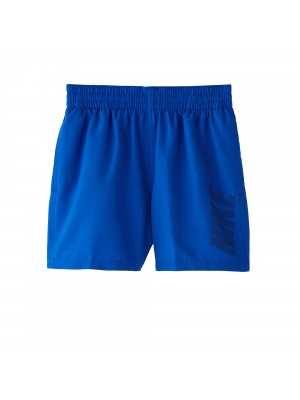 "Nike YA logo solid 4""volley short blauw"