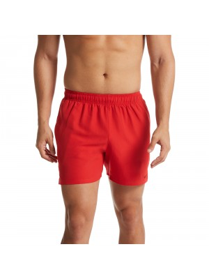 "Nike solid lap 5"" volley short rood"
