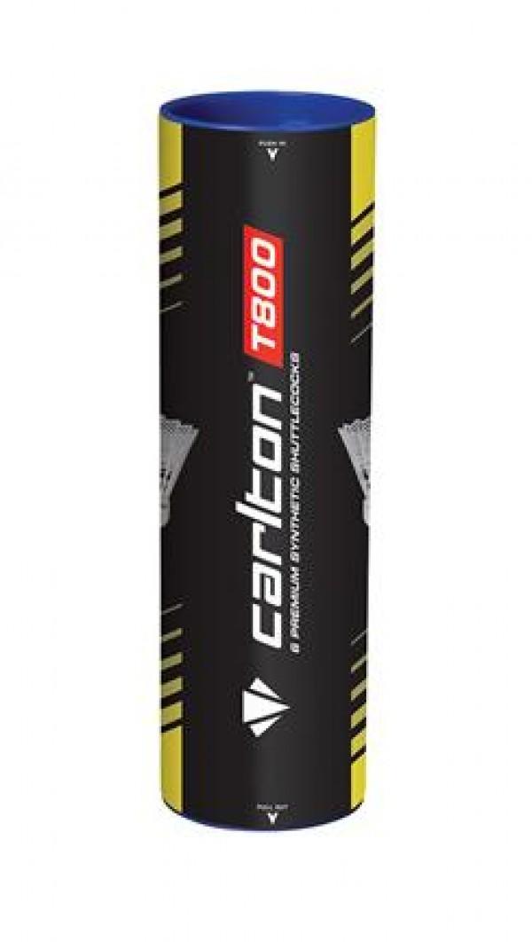 Carlton badmintonshuttle wit T800 blue speed 6st