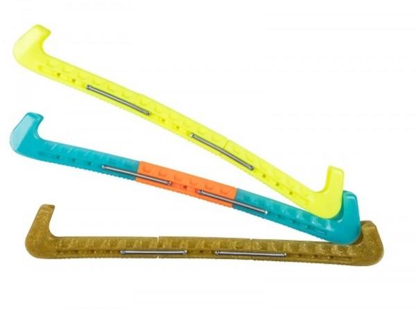 Viking klapschaatsbeschermers blauw glitter