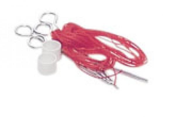 badminton net + poles
