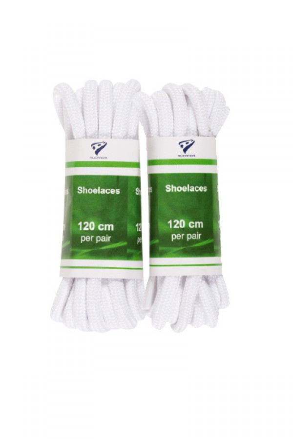 shoelaces round 120 cm wit 2-pack