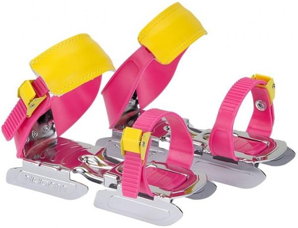 Nijdam glij-ijzers verstelbaar rose/geel