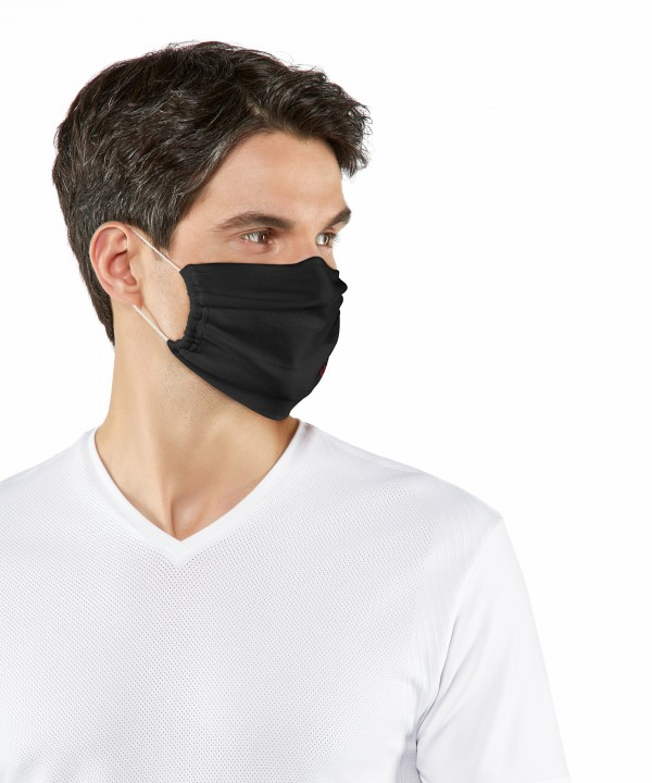 Falke mondkapje 2-Pack 3-laags neusklip zwart