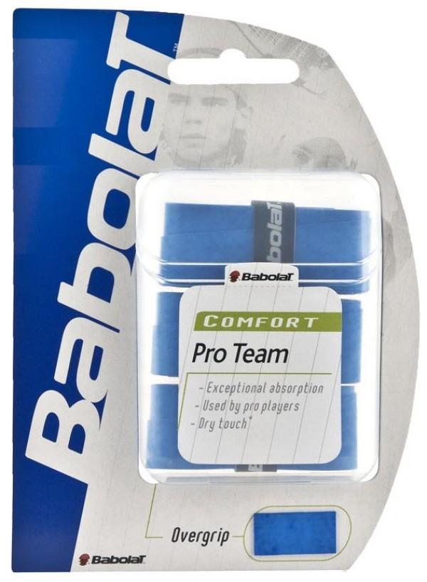Babolat pro team overgrip x3 blauw
