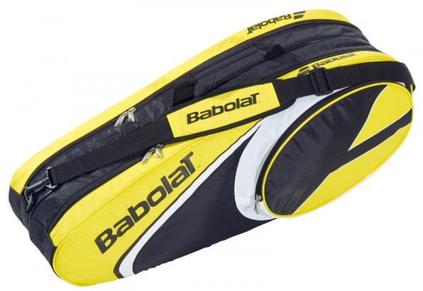 Babolat racket holder X6 club line yellow