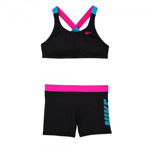 Nike YA rift prism crossback sport bikini & short
